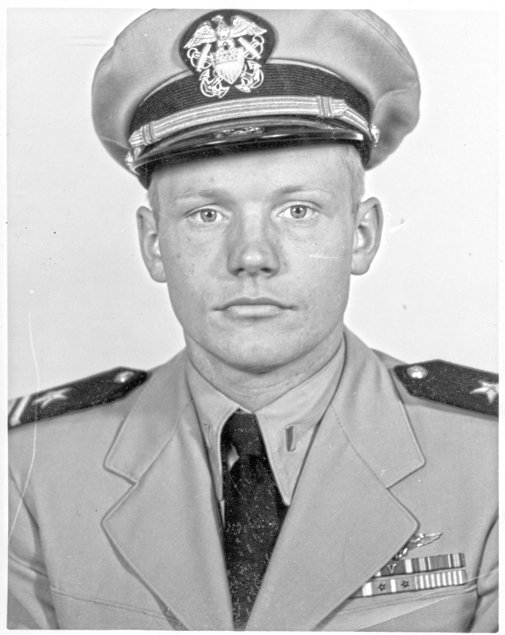 Neil Armstrong in United States Navy uniform, 1951